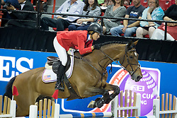 Madden Beezie, (USA), Simon <br />  Longines FEI World Cup™ Jumping Final Las Vegas 2015<br />  © Hippo Foto - Dirk Caremans<br /> Final III round 2 - 19/04/15