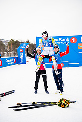 April 6, 2018 - Alta, NORWAY - 180406 Ingvild Flugstad ¯stberg, Marit BjÂ¿rgen and Ragnhild Haga after the Women's 5 km Classic during the Norwegian Championship on April 6, 2018 in Alta..Photo: Jon Olav Nesvold / BILDBYRN / kod JE / 160235 (Credit Image: © Jon Olav Nesvold/Bildbyran via ZUMA Press)