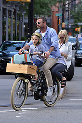 July 22, 2015 - New York, NY, United States - Liev Schreiber takes his wife Naomi Watts and son Sasha on a bike ride around Tribecca on July 22 2015 in New York City  (Credit Image: © Curtis Means/Ace Pictures via ZUMA Press)