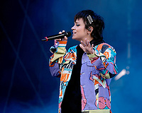 Lily Allen at the Isle Of Wight Festival photo by Dawn Fletcher-Park