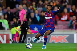 November 5, 2019, Barcelona, Catalonia, Spain: November 5, 2019 - Barcelona, Spain - Uefa Champions League Stage Group, FC Barcelona v Slavia Praga: Nelson Semedo of FC Barcelona passes the ball. (Credit Image: © Eric Alonso/ZUMA Wire)
