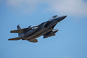 USA, Oregon, Hillsboro, F-15C Eagle at the Oregon International Airshow.