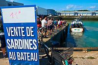 France, Vendée (85), Saint-Gilles-Croix-de-Vie, vente de sardines au bateau // France, Vendée, Saint-Gilles-Croix-de-Vie