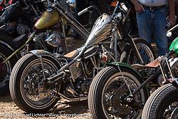 "Ben Jordan's ""Basura Blanca"" Custom HD Panhead at the Harley-Davidson Editor's Choice bike show at the Broken Spoke. Daytona Bike Week 75th Anniversary event. FL, USA. Wednesday March 9, 2016.  Photography ©2016 Michael Lichter."