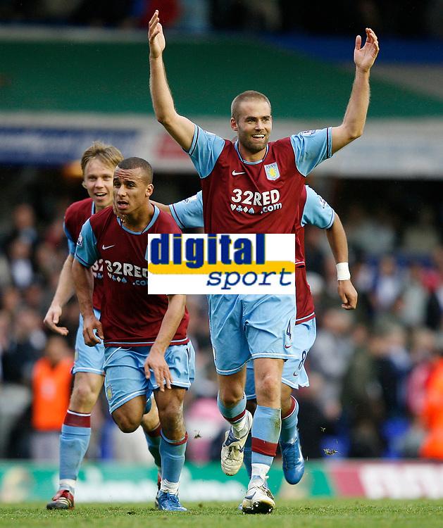 Photo: Steve Bond/Sportsbeat Images.<br /> Birmingham City v Aston Villa. The FA Barclays Premiership. 11/11/2007. Olof Melberg enjoys himself