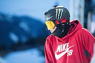 Gus Kenworthy during Ski Superpipe Practice during 2015 X Games Aspen at Buttermilk Mountain in Aspen, CO. ©Brett Wilhelm/ESPN