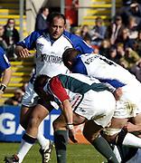 Leicester, England UK., 9th October 2004,  Zurich Premiership Rugby, Leicester Tigers vs Bath Rugby, Welford Road,<br /> [Mandatory Credit: Peter Spurrier/Intersport Images],<br /> Baths prop David Barnes