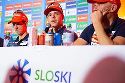 Alex Cisar during press conference of Slovenian Nordic Ski Cross country team before new season 2019/20, on Novamber 12, 2019, in Petrol, Ljubljana, Slovenia. Photo Grega Valancic / Sportida