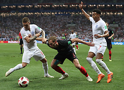 MOSCOW, July 11, 2018  Ivan Strinic (C) of Croatia competes during the 2018 FIFA World Cup semi-final match between England and Croatia in Moscow, Russia, July 11, 2018. Croatia won 2-1 and advanced to the final. (Credit Image: © Cao Can/Xinhua via ZUMA Wire)