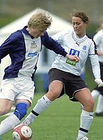 Bente Kvitland, Asker. Asker spiller i gutteserie i tillegg til 1. divisjon kvinner for å få god nok matching. G16 1. divisjon - avd. 1. Asker - Ready 3-3. 28. april 2006. (Foto: Peter Tubaas/Digitalsport)
