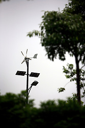 CHINA ZHEJIANG PROVINCE HANGZHOU 21MAY10 - A wind and solar power generator provides energy for street lighting at the Energy and Environment Industial Park outside of the city of Hangzhou, China...jre/Photo by Jiri Rezac..© Jiri Rezac 2010