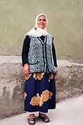 Turkish woman in a street in Istanbul, Turkey