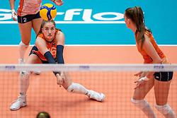 Jolijn de Haan of Netherlands in action during semi final Netherlands - Serbia, FIVB U20 Women's World Championship on July 17, 2021 in Rotterdam
