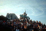 A 29MG IMAGE OF:..   Grant Park rally during the Democratic Convention in Chicago, Il. in 1968..Photo by Dennis Brack B 9