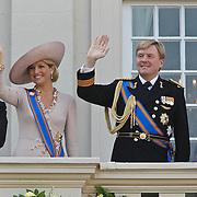 NLD/Den Haag/20100921 - Prinsjesdag 2010, Prins Constatijn, Prinses maxima, Prins Willem - Alexander, Koningin Beatrix