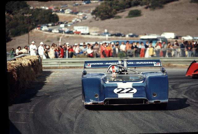 Francois Cevert, McLaren M8F, in 1972 Laguna Seca Can-Am