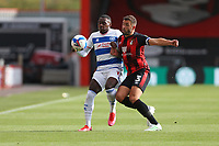 Football - 2020 / 2021 Sky Bet Championship - AFC Bournemouth vs. Queens Park Rangers - The Vitality Stadium<br /> <br /> Bournemouth's Steve Cook goes shoulder to shoulder with Bright Osayi-Samuel of Queens Park Rangers during the Championship match at the Vitality Stadium (Dean Court) Bournemouth <br /> <br /> COLORSPORT/SHAUN BOGGUST