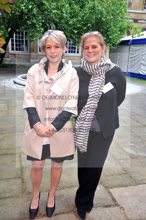Left to right, KATE MEULI and LADY FALCONER at the anual House of Lords vs House of Commons Tug of War in aid of Macmillan Cancer Support held in College Garden, Westminster Abbey, London on 9th June 2009.