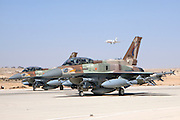 Israeli Air Force (IAF) F-16I Fighter jet on the ground