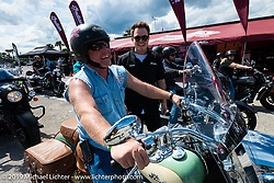 The Indian Motorcycle display at Daytona International Speedway during Daytona Bike Week, FL. USA. Sunday March 11, 2018. Photography ©2018 Michael Lichter.