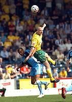 Photo: Kevin Poolman.<br />Wycombe Wanderers v Hartlepool United. Coca Cola League 2. 14/04/2007. Michael Nelson of Hartlepool gets up higher than Jermaine Easter of Wycombe.