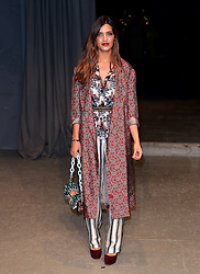 Sara Carbonero wearing Burberry attending the Burberry London Fashion Week Show at Makers House, Manette Street, London.