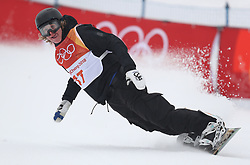 Finland's Rene Rinnekangas in run 2 of qualification for Men's Snowboard Slopestyle the PyeongChang 2018 Winter Olympic Games in South Korea.
