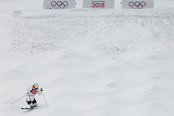 February 9, 2018 - Pyeongchang, South Korea - 180209 Lea Bouard of Germany compete in the WomenÃ•s Moguls Qualification during the 2018 Winter Olympics on February 9, 2018 in Pyeongchang..Photo: Petter Arvidson / BILDBYRN / kod PA / 91955 (Credit Image: © Petter Arvidson/Bildbyran via ZUMA Press)
