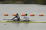Caversham, Great Britain, left marcus BATEMAN and Toby GARBUTT,  at the Redgrave Pinsent Rowing Lake. GB Rowing Training centre. Wed. 20.04.2008  [Mandatory Credit. Peter Spurrier/Intersport Images] Rowing course: GB Rowing Training Complex, Redgrave Pinsent Lake, Caversham, Reading