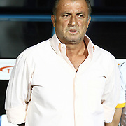 Galatasaray's technical director Fatih Terim during their Turkish Super Cup 2012 soccer derby match Galatasaray between Fenerbahce at the Kazim Karabekir stadium in Erzurum Turkey on Sunday, 12 August 2012. Photo by TURKPIX