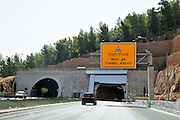 Israel, Modern highway, a tunnel on the Afula Nazareth highway
