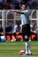 Juan Riquelme of Argentina during the Olympic Games final. Argentina beats Nigeria 1-0 and won the gold medal <br /> National Indoor - Bird Nest - Football - Calcio<br /> Pechino - Beijing 23/8/2008 Olimpiadi 2008 Olympic Games<br /> Foto Andrea Staccioli Insidefoto