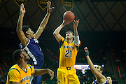 WACO, TX - JANUARY 11: Isaiah Austin #21 of the Baylor Bears shoots the ball against the TCU Horned Frogs on January 11, 2014 at the Ferrell Center in Waco, Texas.  (Photo by Cooper Neill/Getty Images) *** Local Caption *** Isaiah Austin