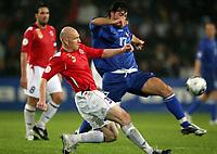 Fotball , 6. september 2006 , EM-kvalifisering , Norge - Moldova 02,<br /> Euro - q.<br /> Norway - Moldova<br /> <br /> Erik Hagen , Norge og Serghei Dadu , Moldova