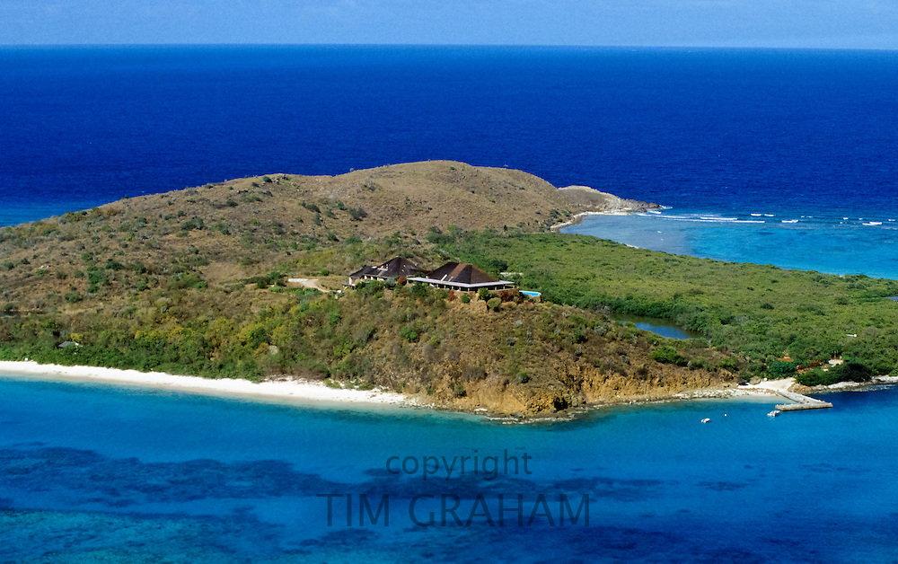Sir Richard Branson's home on the island of Necker, in the British Virgin Isles in the 1990s