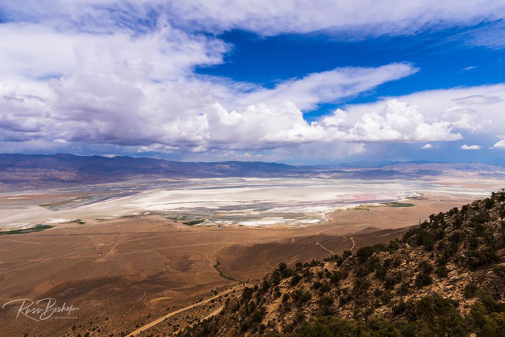Owens Lake from the Horseshoe Meadows Road, Lone Pine, California USA