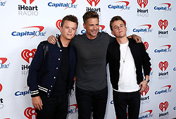 Matthew Lowe, Rob Lowe, and John Lowe attend the 2017 iHeart Radio Music Festival at T-Mobile Arena Friday, Sept. 22, 2017, in Las Vegas. Photo by Bizuayehu Tesfaye/SIPA USA