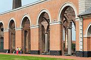 Le Grand Hornu, UNESCO Weltkulturerbe, Hornu bei Mons, Hennegau, Wallonie, Belgien, Europa   Le Grand Hornu, UNESCO world heritage site, Hornu near Mons, Hennegau, Wallonie, Belgium, Europe