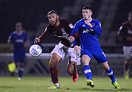 Daniel Powell of Northampton Town (l) battles with Conor Chaplin of Portsmouth. EFL Skybet Football League one match, Northampton Town v Portsmouth at the Sixfields Stadium in Northampton on Tuesday 12th September 2017. <br /> pic by Bradley Collyer, Andrew Orchard sports photography.