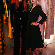 London,England,UK : 13th April 2016 : Designer Alexandra Long and her model Introducing 'Enigma II' Alexandra Long pays homage to the women who made Great Britain, truly great! at Lights of Soho, London. Photo by See Li