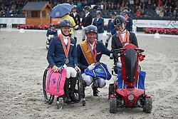 Podium Para Dressage, Hosmar Frank, Den Dulk Nicole, Van der Horst Rixt, (NED)<br /> Para Dressuur Finale<br /> Dutch Championship Dressage - Ermelo 2015<br /> © Hippo Foto - Dirk Caremans<br /> 19/07/15