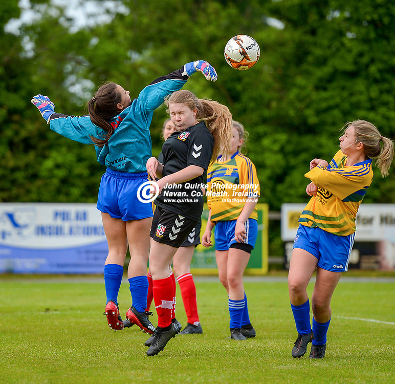 Full Time Score 2 - 2<br /> <br /> Skryne/Tara goal keeper, Cliodhna O'Riordan gets the ball away, in the Skryne/Tara v Balrath, North East Football League Women's Div South match, at Ross Cross, Tara.<br /> <br /> Photo: GERRY SHANAHAN-WWW.QUIRKE.IE<br /> <br /> 26-06-2021