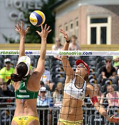 16-07-2014 NED: FIVB Grand Slam Beach Volleybal, Apeldoorn<br /> Poule fase groep G vrouwen - Tanja Huberli (2) SUI