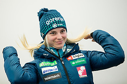 Spela Rogelj during press conference of Slovenian Nordic Ski team before new season 2017/18, on November 14, 2017 in Gorenje, Ljubljana - Crnuce, Slovenia. Photo by Vid Ponikvar / Sportida
