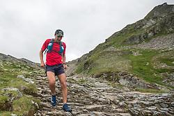 25.07.2015, Rodolfshütte, Uttendorf, AUT, Grossglockner Ultra Trail, 50 km Berglauf, im Bild Jim Mann (GBR, führender bei Rudolfshütte) // Jim Mann of United Kingdom, fleading at Rudolfshütte during the Grossglockner Ultra Trail 50 km Trail Run from Kals arround the Grossglockner to Kaprun. Uttendorf, Austria on 2015/07/25. EXPA Pictures © 2015, PhotoCredit: EXPA/ Johann Groder