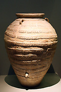 Pithos with plastic rope decoration in horizontal bands.