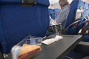 lunch bread snack during flying