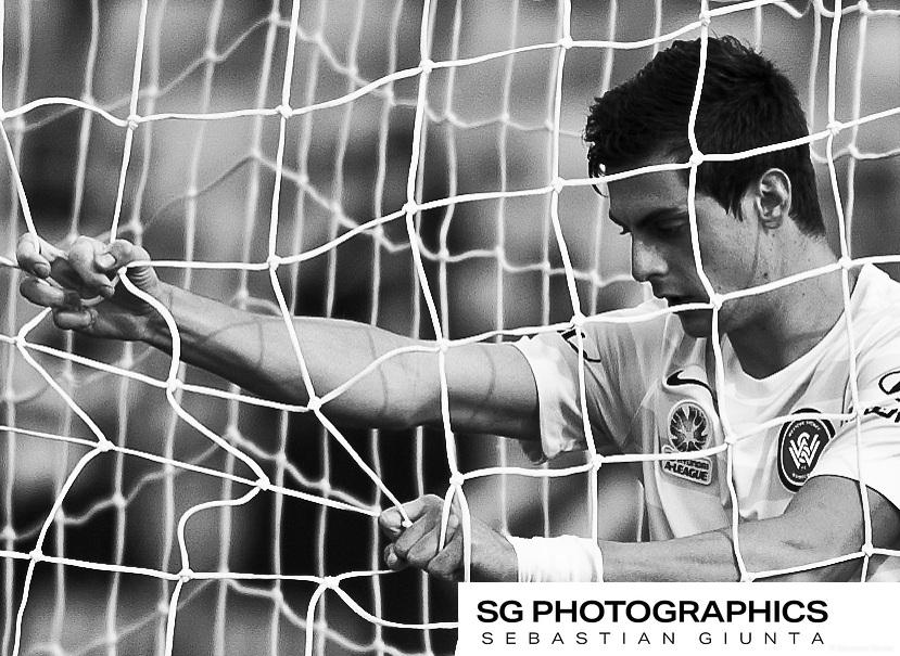 Sebastian Giunta | ©2014 Round-7 Pirtek Stadium Season 2014/15 Western Sydney Wanderers vs New Castle Jets. White Ribbon Day.