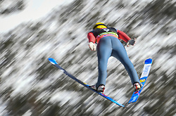 March 22, 2019 - Planica, Slovenia - Dimitriy Vassiliev of Russia seen in action during the trial round of the FIS Ski Jumping World Cup Flying Hill Individual competition in Planica. (Credit Image: © Milos Vujinovic/SOPA Images via ZUMA Wire)