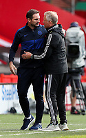 Sheffield United manager Chris Wilder thanks Chelsea manager Frank Lampard<br /> <br /> Photographer Alex Dodd/CameraSport<br /> <br /> The Premier League - Sheffield United v Chelsea - Saturday 11th July 2020 - Bramall Lane - Sheffield<br /> <br /> World Copyright © 2020 CameraSport. All rights reserved. 43 Linden Ave. Countesthorpe. Leicester. England. LE8 5PG - Tel: +44 (0) 116 277 4147 - admin@camerasport.com - www.camerasport.com